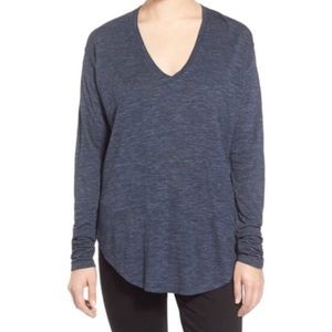 Madewell Heathered Anthem Long Sleeve  Tee  Small